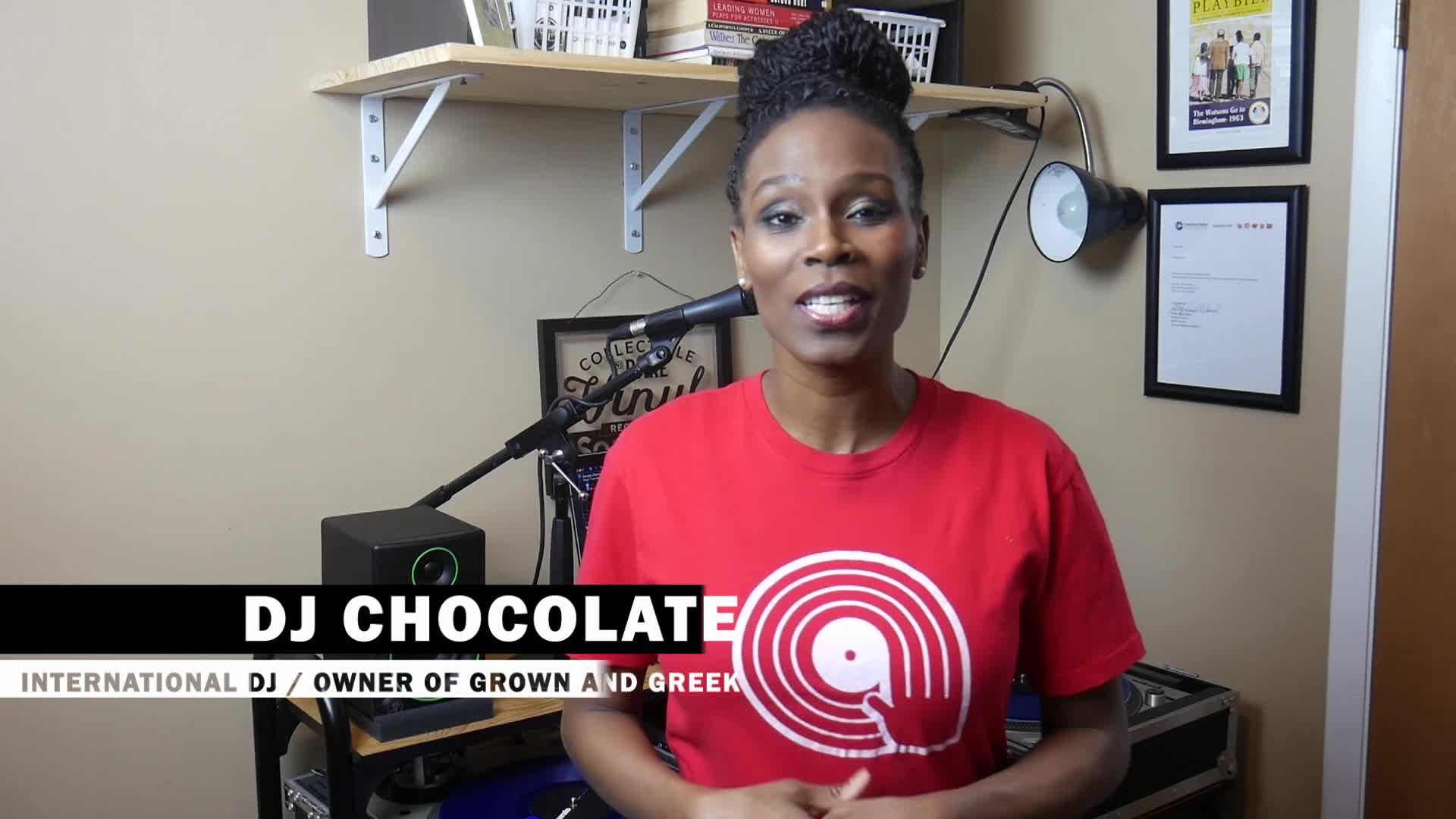 DJ Chocolate congratulates CREW-TV on their Mother's Day Launch