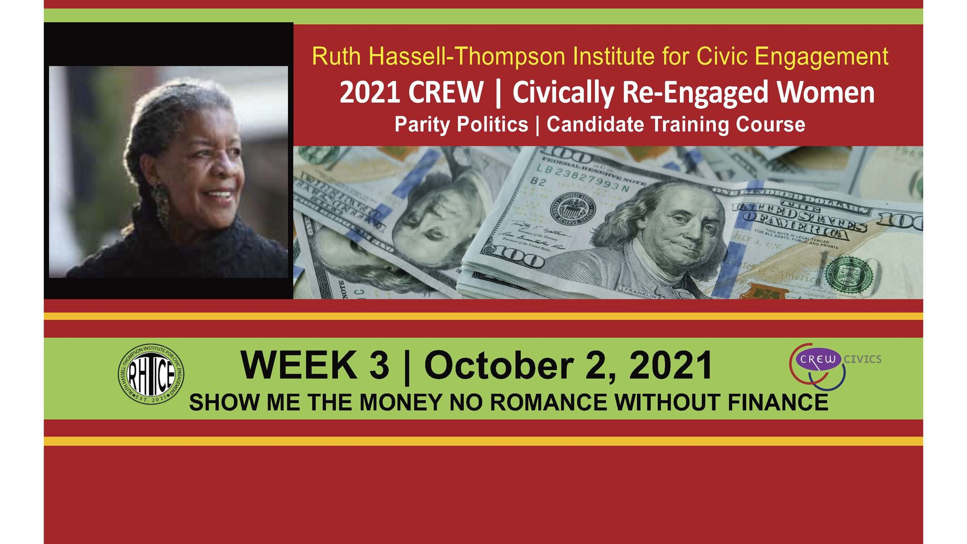 Week 3   RHTICE Live - Show Me The Money: No Romance without The Finance
