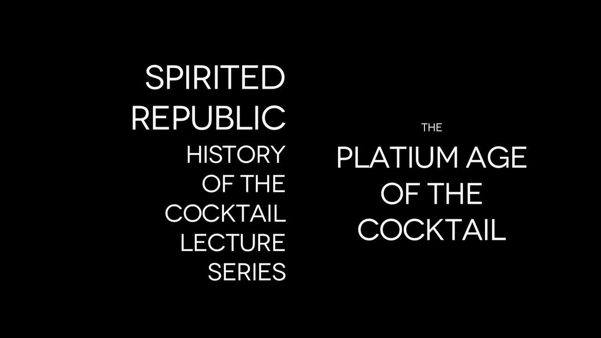 The History of Cocktails