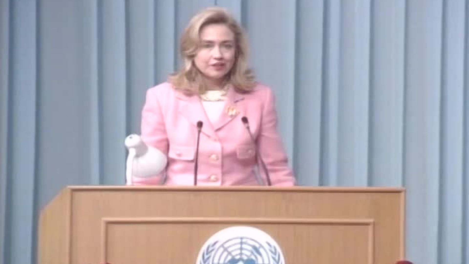 First Lady Hillary Rodham Clinton Speaking at the United Nations Fourth Womens' Conference in Beijing, China
